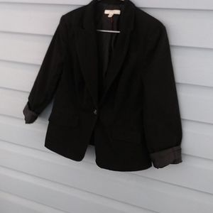 Merona black blazer size small